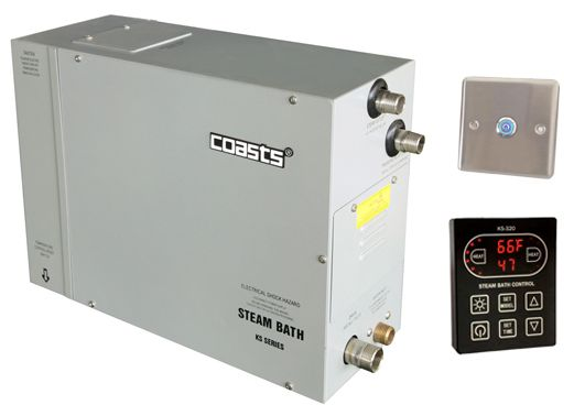 Parní generátor, vyvíječ páry pro saunu KSB-120CD s ovládacími panely KS-320A a KS30A, 380V