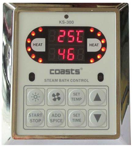 Parní generátor, vyvíječ páry pro saunu KSB-60CD s ovládacími panely KS-300 a KS30A, 380V